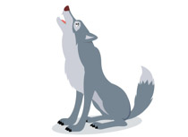 Wolf images clipart png black and white stock Free Wolf Clipart - Clip Art Pictures - Graphics - Illustrations png black and white stock