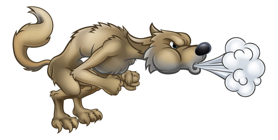 Wolf in the pot clipart image royalty free library Wolf Huffs and He Puffs and He Blows Anesthesia\'s Drapes ... image royalty free library