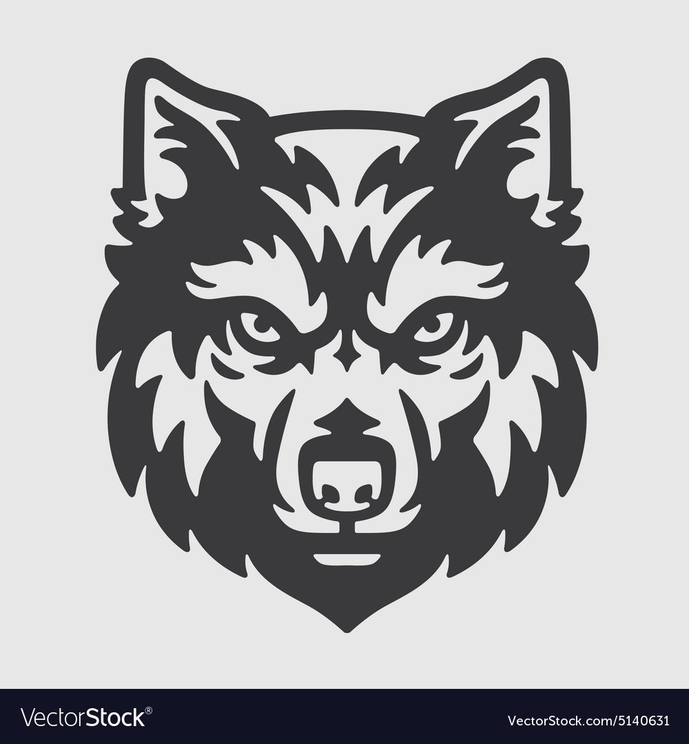 Wolf mascot clipart jpg library library Wolf Head Logo Mascot Emblem jpg library library