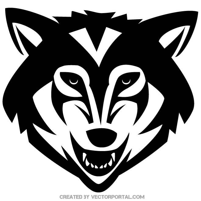 Wolf mascot clipart jpg stock WOLF MASCOT DESIGN - Free vector image in AI and EPS format. jpg stock