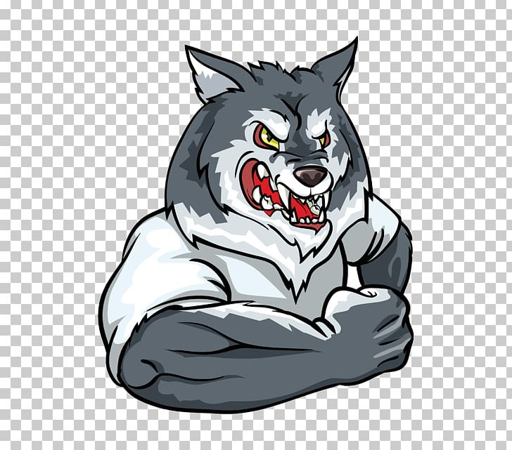 Wolf mascot clipart clip black and white stock Gray Wolf Logo Mascot PNG, Clipart, Animals, Carnivoran, Cat ... clip black and white stock