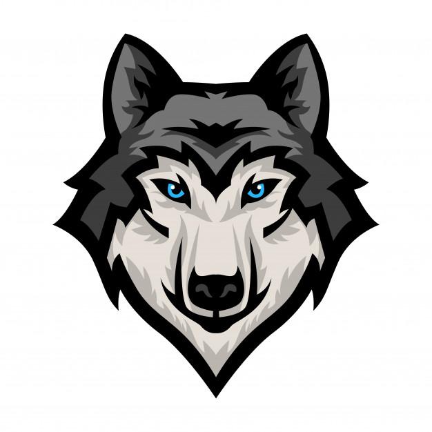 Wolf mascot clipart graphic transparent library Wolf head mascot logo vector Vector | Premium Download graphic transparent library
