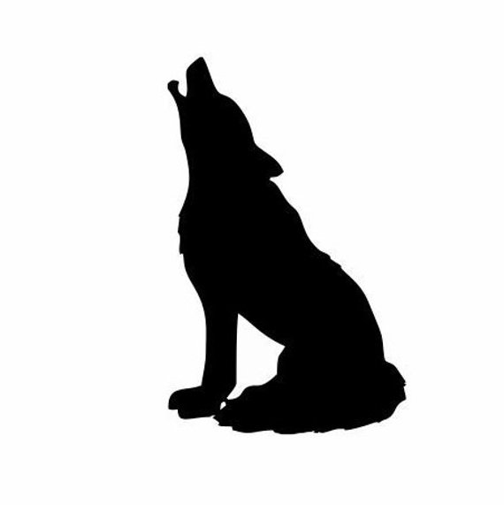 Wolf native american clipart image library library Wolf Sitting Decal: Indian Decal, Indian Decor, Wolf Decor ... image library library