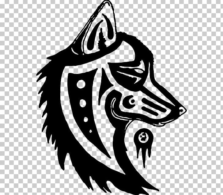 Wolf native american clipart graphic black and white library Gray Wolf Totem Pole Symbol Native Americans In The United ... graphic black and white library