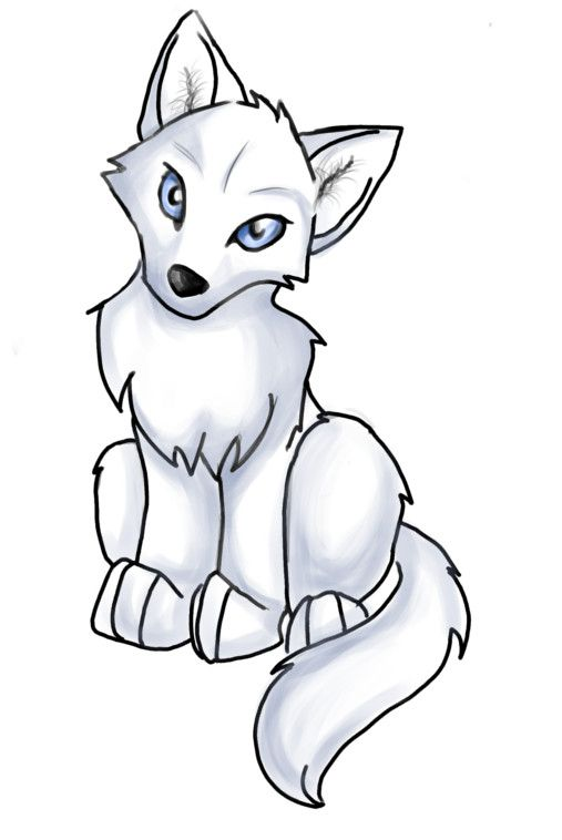 Wolf puppy clipart banner free Anime Wolf Pup Easy - ClipArt Best | Ideas for the House in ... banner free