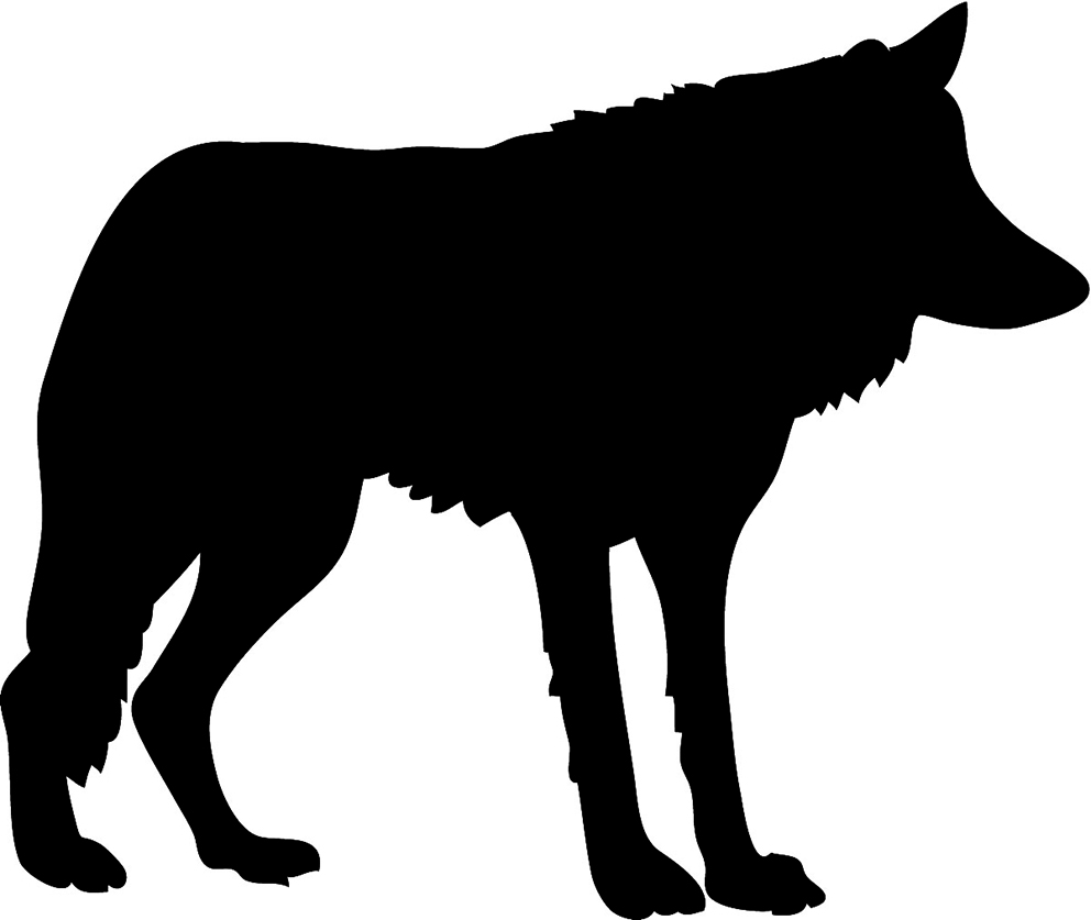 Wolf silhouette clipart freeuse Free Wolf Silhouette Images, Download Free Clip Art, Free ... freeuse
