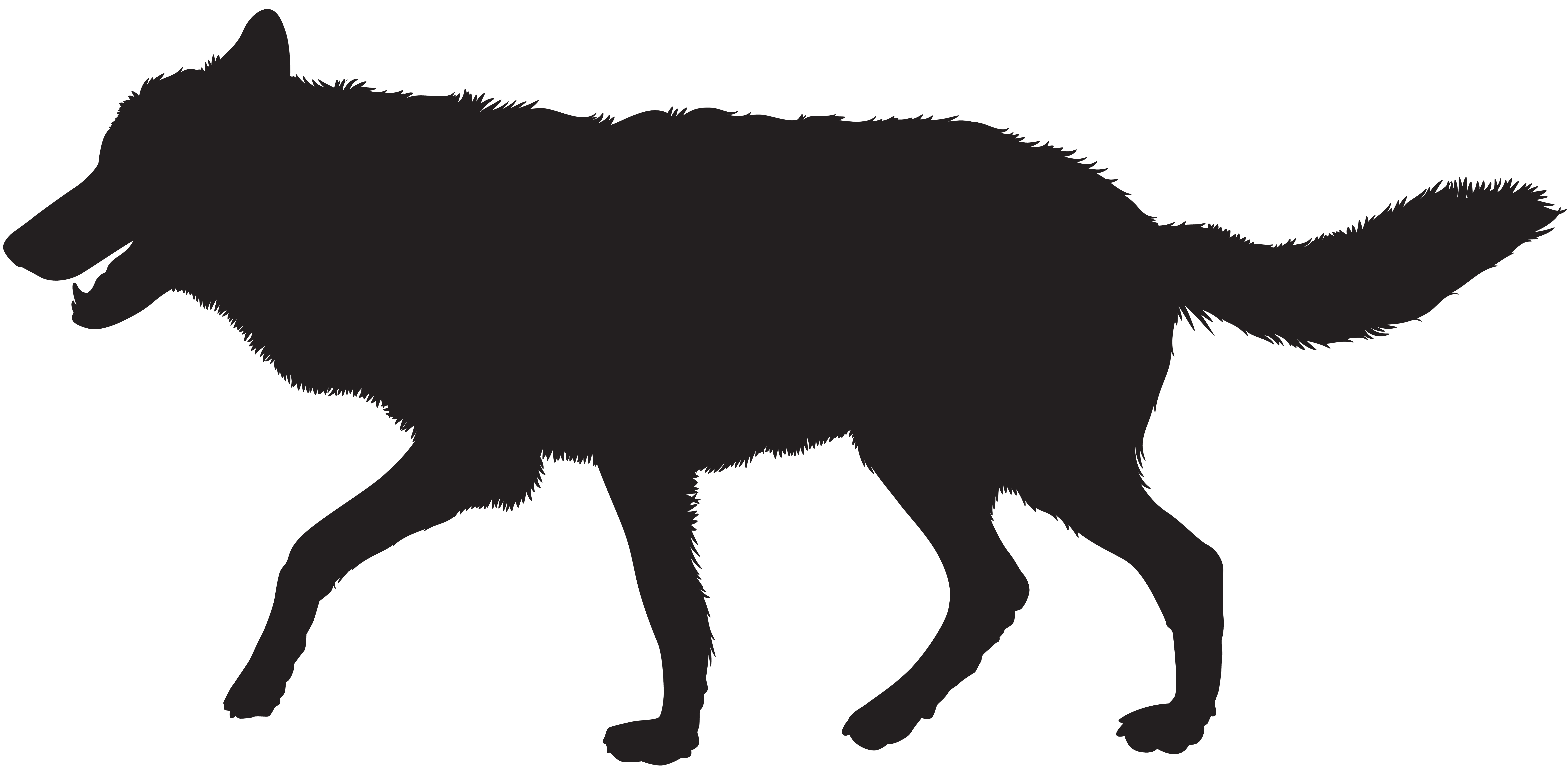 Wolf silhouette clipart jpg library stock Gray wolf Silhouette Clip art - Wolf Silhouette PNG Clip Art ... jpg library stock