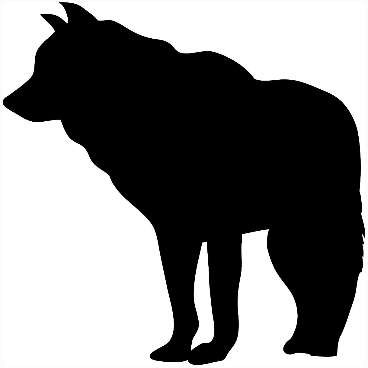 Wolf silhouette clipart graphic transparent library Wolf silhouette.   Silhouettes   Wolf silhouette, Silhouette ... graphic transparent library