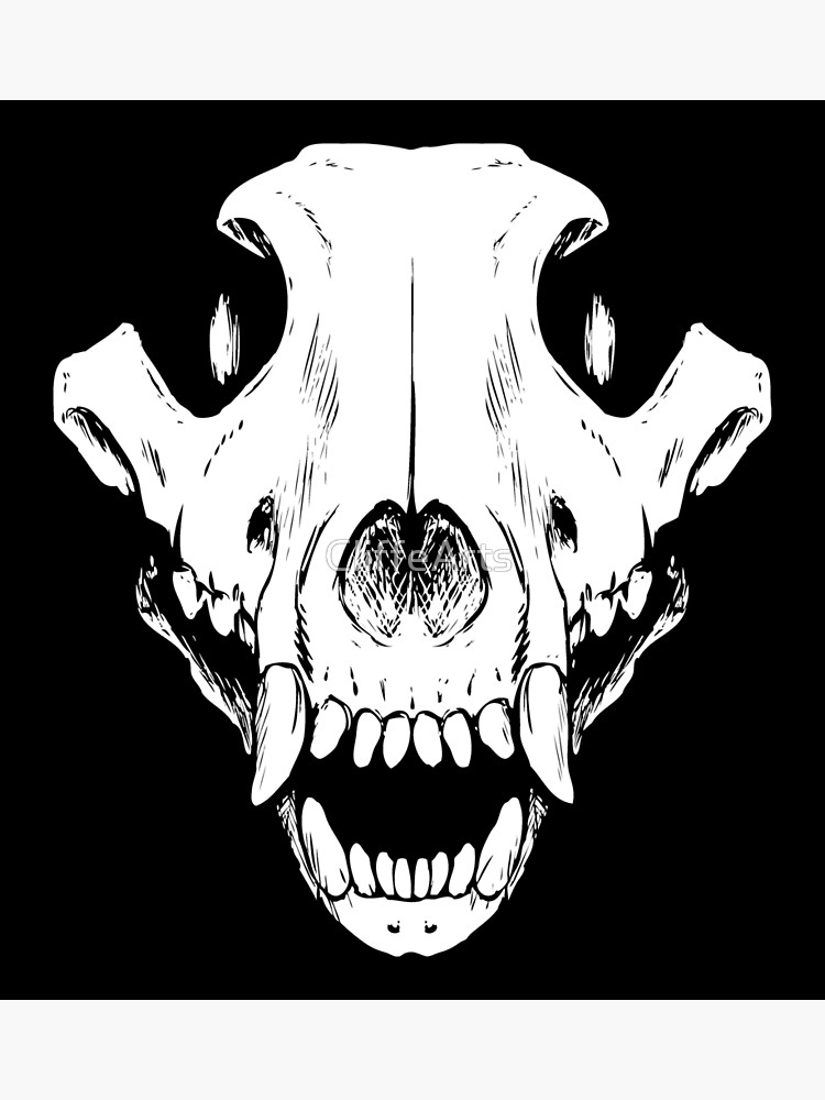 Wolf skull clipart png image royalty free library Wolf Skull   Poster image royalty free library