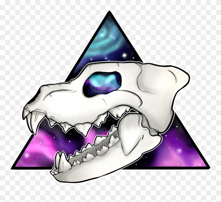 Wolf skull clipart png image library stock Galaxy Wolf Skull - Galaxy Wolf Cartoon Transparent Clipart ... image library stock