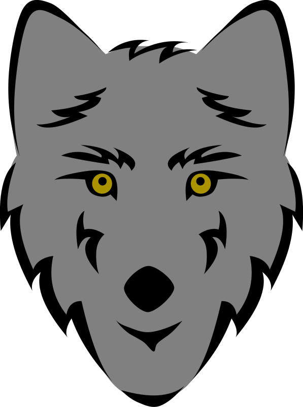 Wolfhead clipart banner transparent download Free Clipart: Wolf Head (Stylized)   Gerald_G banner transparent download
