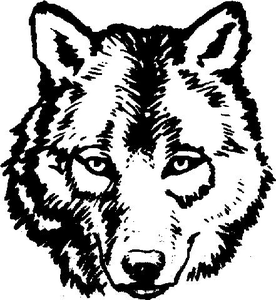 Wolfhead clipart banner free Wolf Head Clipart   Free Images at Clker.com - vector clip ... banner free