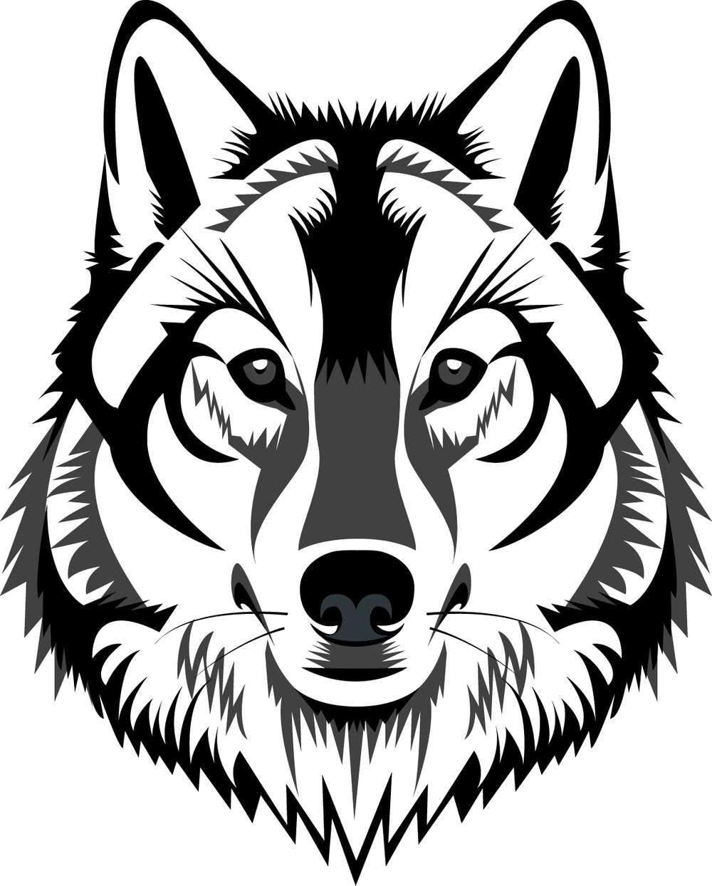 Wolfhead clipart png royalty free stock White Wolf Clipart Wolf Head – Pencil And In Color White ... png royalty free stock