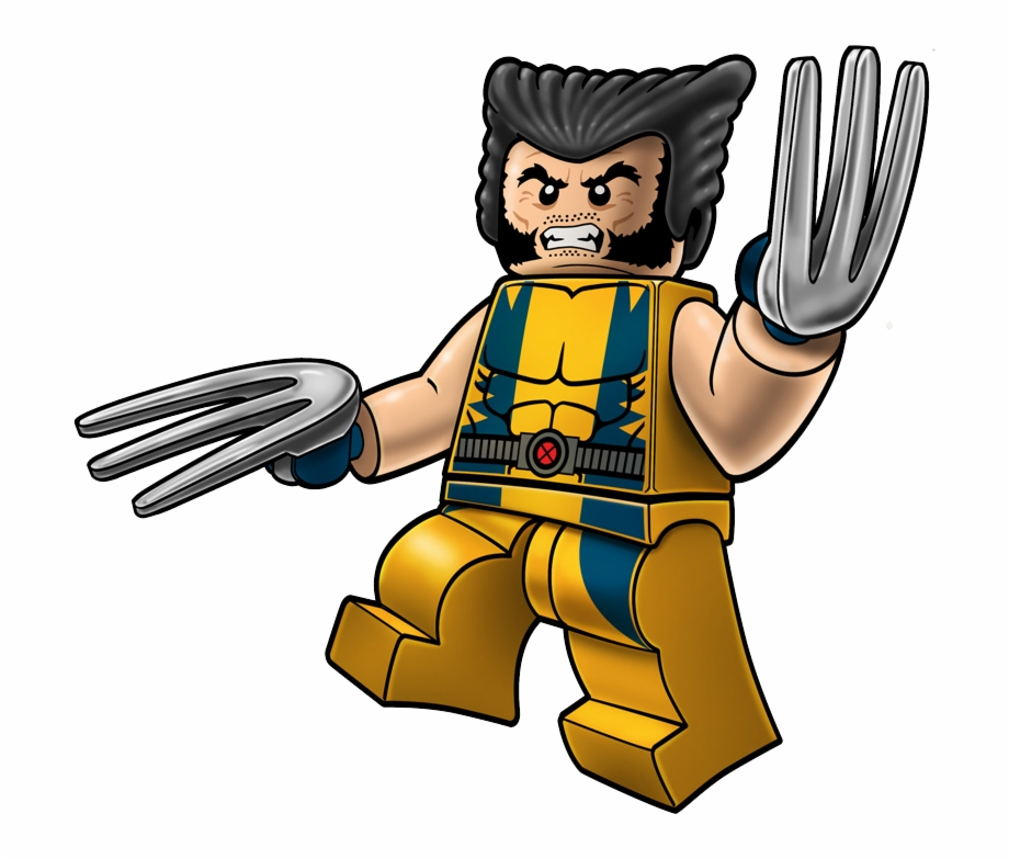 Wolverine marvel clipart image black and white Wolverine Marvel Lego Clip Art Png - Lego Marvel Wolverine ... image black and white