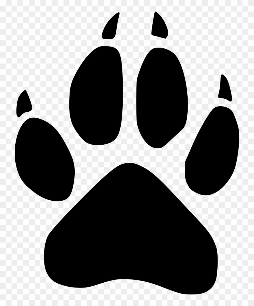 Wolverine paw print clipart svg free stock Footprint Wild Svg Icon - Unm Lobo Paw Print Clipart ... svg free stock