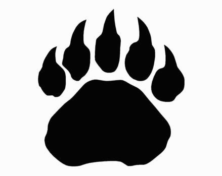 Wolverine paw print clipart graphic free download Paw Print | Herr Paul\'s vibrant interests. | Bear paw print ... graphic free download