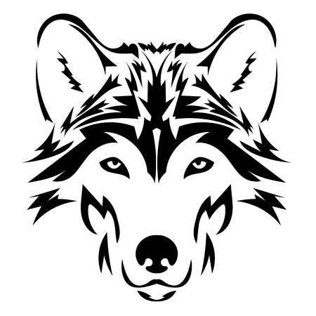 Wolves face clipart jpg freeuse Wolf face clipart black and white 2 » Clipart Portal jpg freeuse