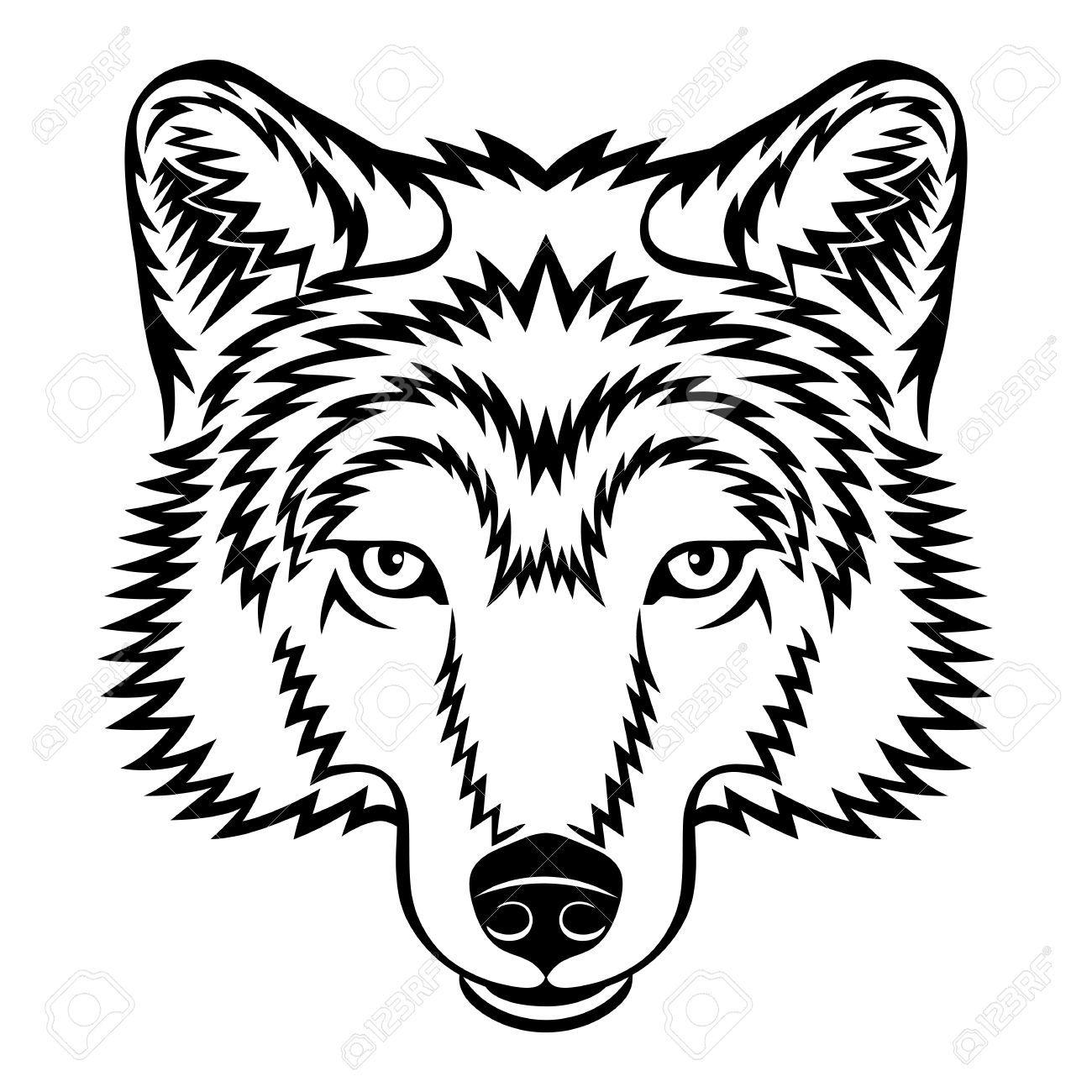 Wolves face clipart