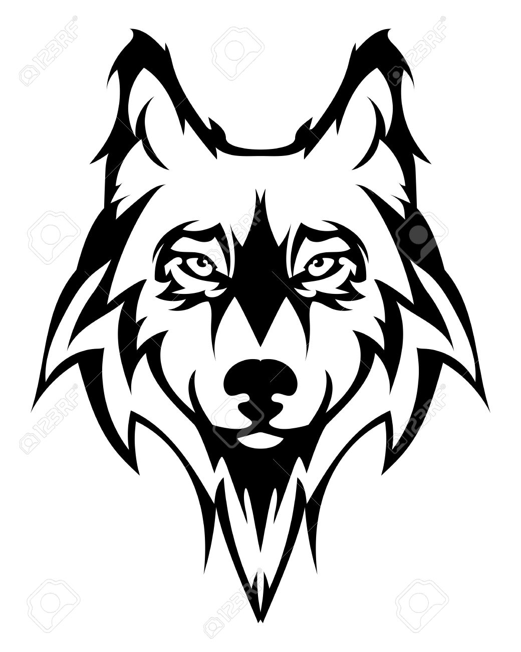 Wolves face clipart picture library library Wolf Face Clipart | Free download best Wolf Face Clipart on ... picture library library