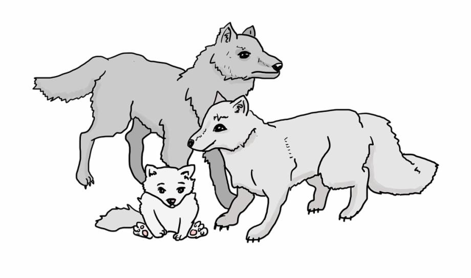 Wolves familys clipart