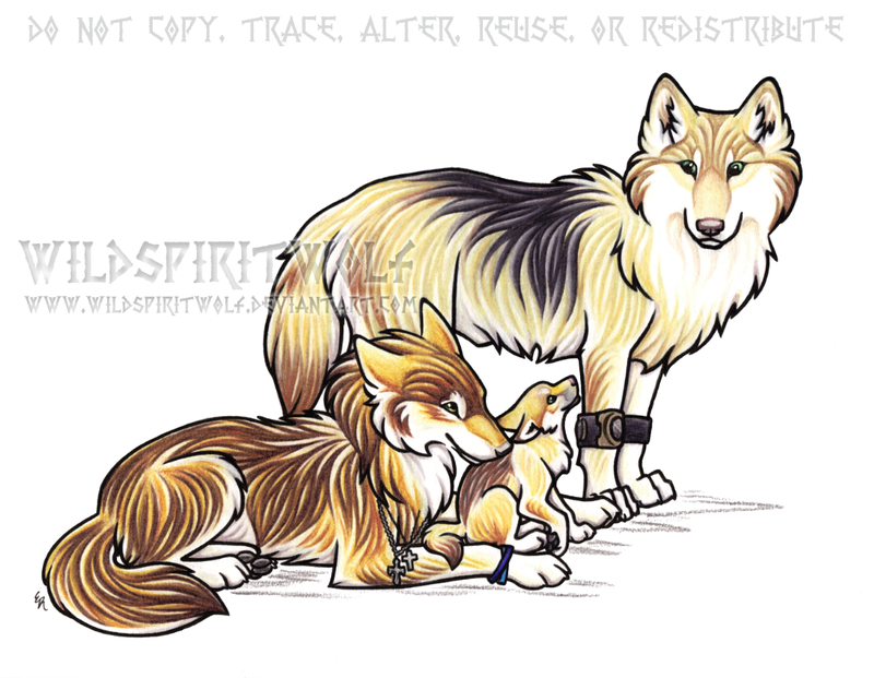 Wolves familys clipart library Wolf Family Drawing at PaintingValley.com   Explore ... library