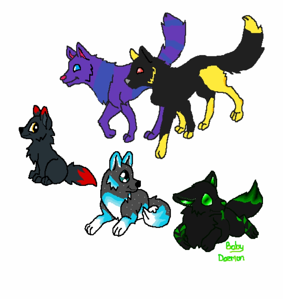 Wolves familys clipart jpg download Wolf Pack Family - Foxy And Mangle Children, Transparent Png ... jpg download