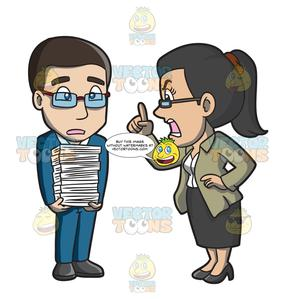 Woman an man yelling clipart picture transparent A Female Boss Yelling At A Male Employee picture transparent