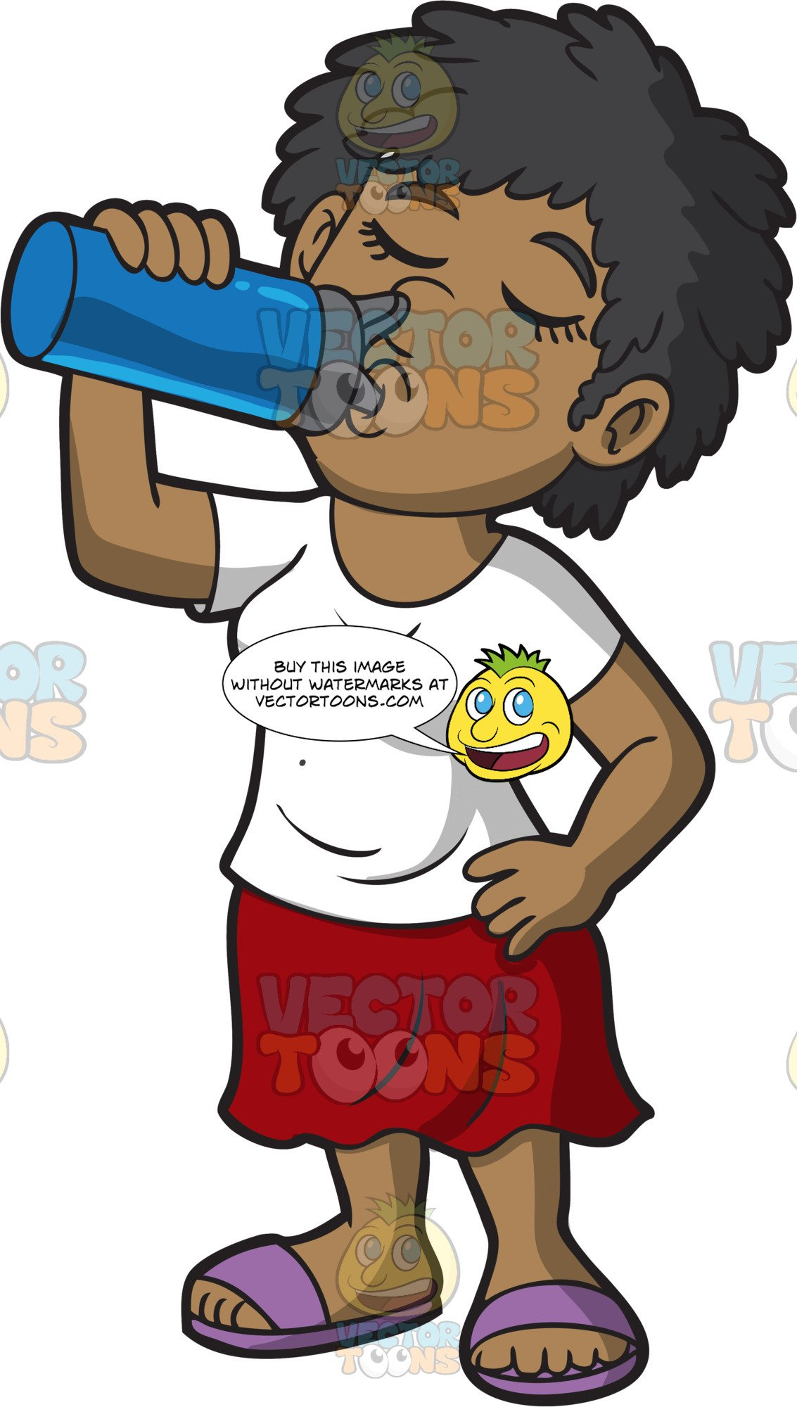 Woman and water bottle clipart picture black and white download A Woman Drinking Water From A Water Bottle picture black and white download