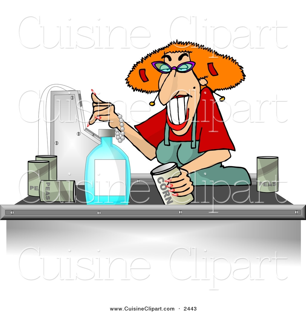 Clipart of a store jpg Cuisine Clipart of a Grocery Store Checkout Clerk Female ... jpg