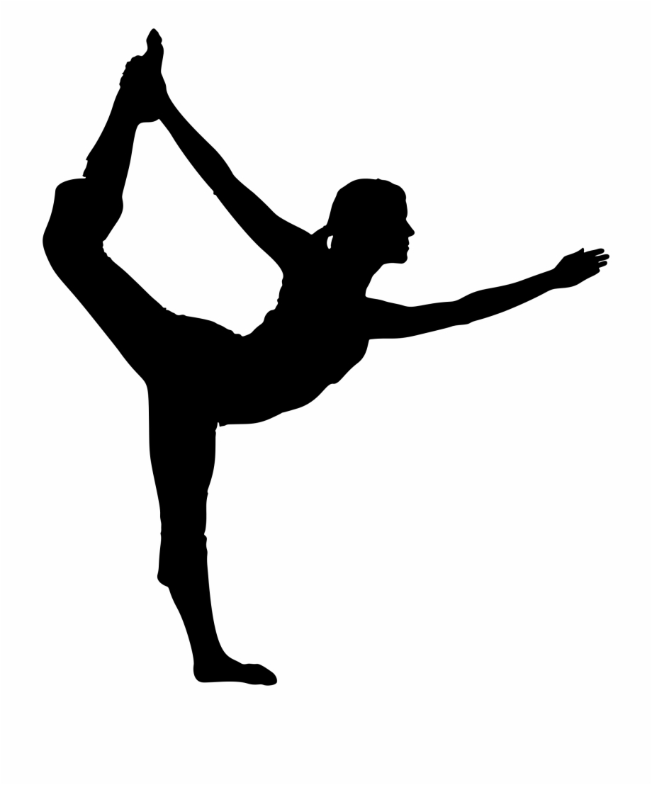 Yoga pose silhouette clipart svg transparent download Vector Black And White Clipart Female Pose Big Image ... svg transparent download