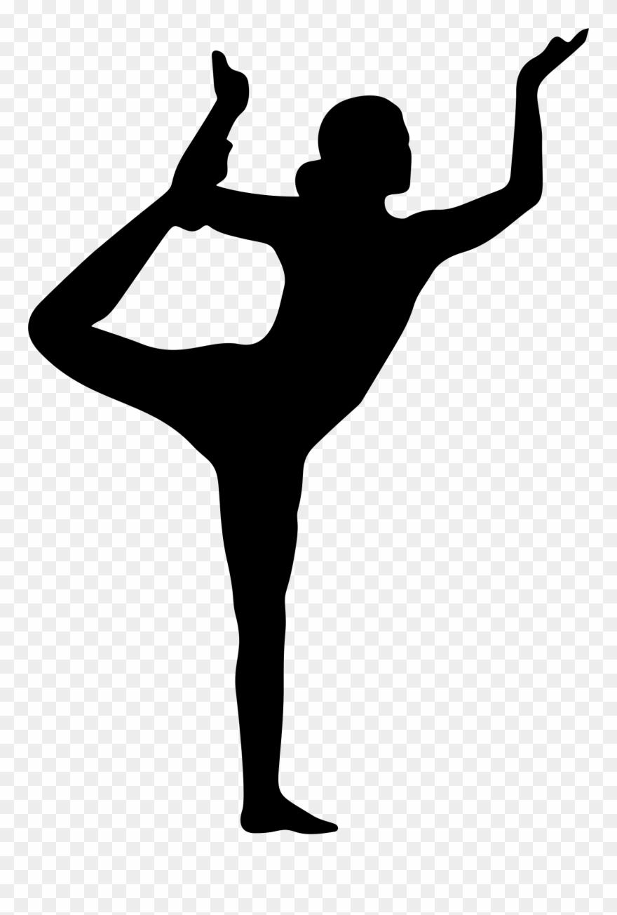 Yoga pose silhouette clipart banner stock Female Yoga Pose Silhouette - Yoga Pose Silhouette Png ... banner stock