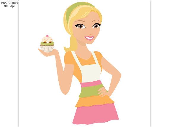 Woman baking clipart vector transparent library 326539 - PNG Images - PNGio vector transparent library