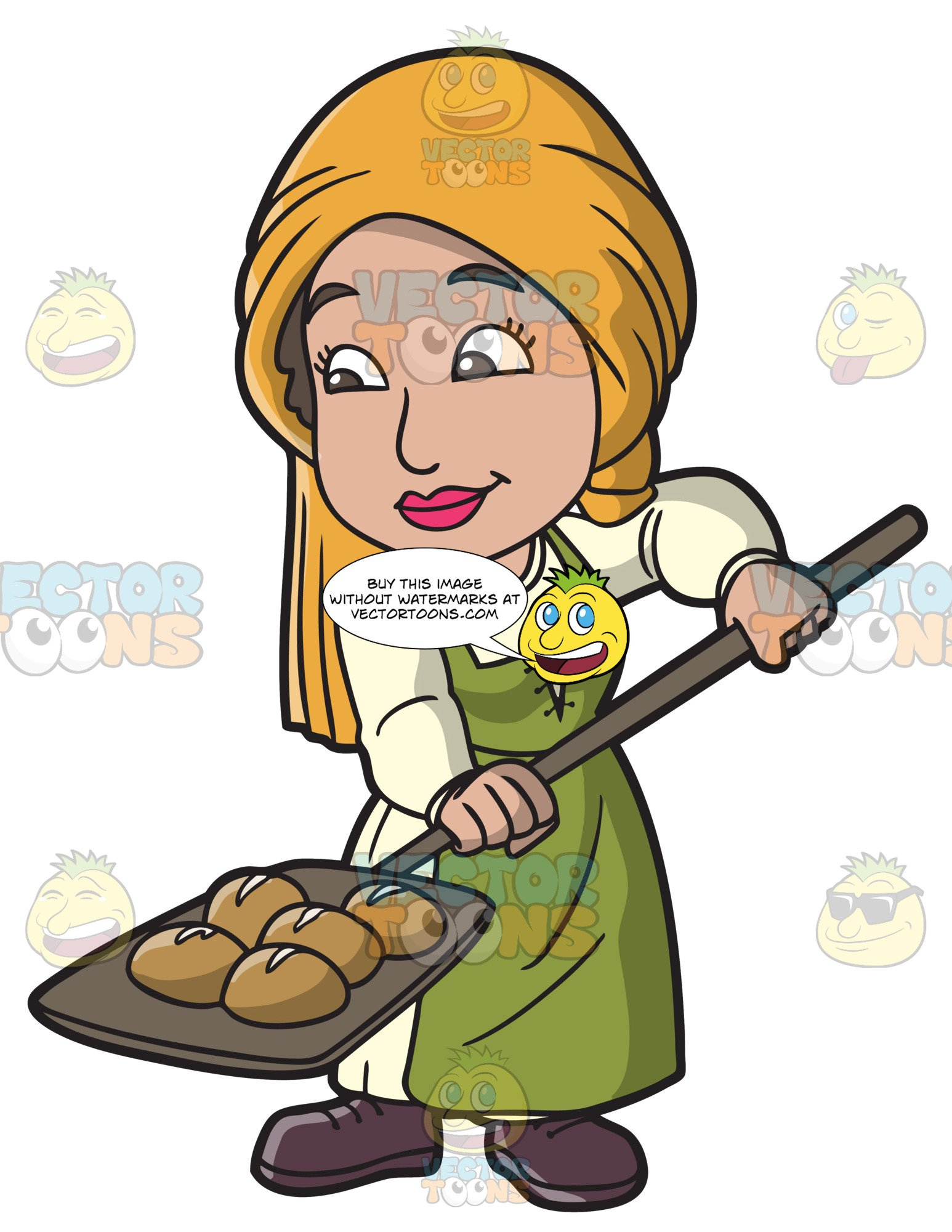 Woman baking clipart picture library library A Saxon Woman Baking A Batch Of Bread picture library library
