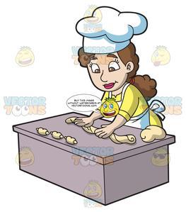 Woman baking clipart clip art transparent stock A Woman Baking Croissants clip art transparent stock