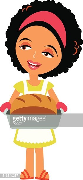Woman baking clipart image black and white Woman Baking premium clipart - ClipartLogo.com image black and white