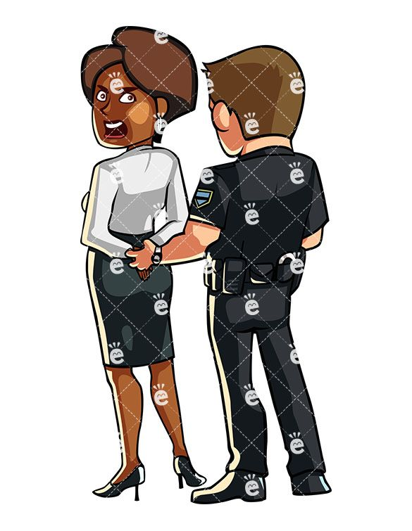 Woman being arrested clipart library Police Officer Handcuffing A Protesting Black Woman ... library