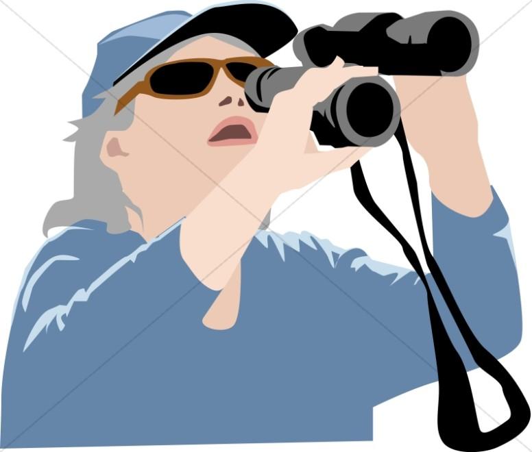 Woman bird watcher clipart freeuse stock Christian Senior Clipart, Christian Elders Clipart - Sharefaith freeuse stock