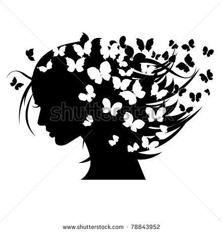 Woman butterfly hair clipart vector clip transparent download Pinterest clip transparent download