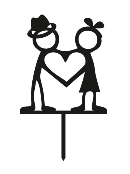 Woman cake topper clipart clip library library Cake Topper - Boy and Girl clip library library