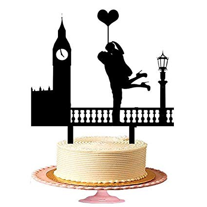 Woman cake topper clipart picture royalty free stock Amazon.com: Man Hold Her Woman His Lap With A Heart Ballon ... picture royalty free stock