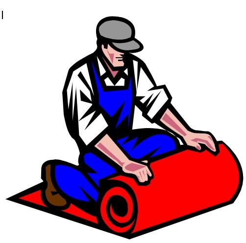 Woman laying carpet installer clipart black and white image royalty free Collection of Carpet clipart | Free download best Carpet ... image royalty free