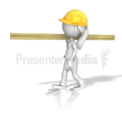 Woman carrying wood clipart black and white download Woman Carpenter Carrying Wood - 3D Figures - Great Clipart ... black and white download