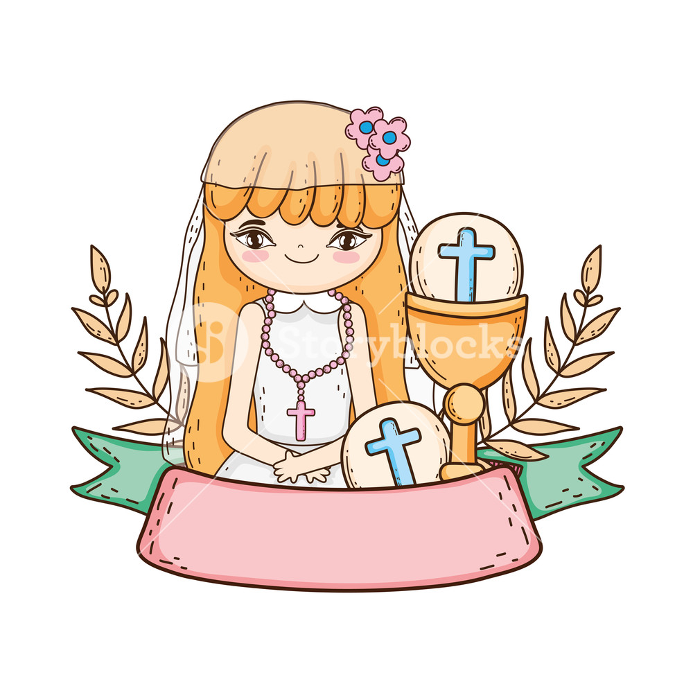 Woman chalice clipart svg free little girl with chalice in first communion celebration ... svg free