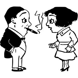 Woman cigar clipart clipart royalty free Cigar Man with Woman clipart, cliparts of Cigar Man with ... clipart royalty free