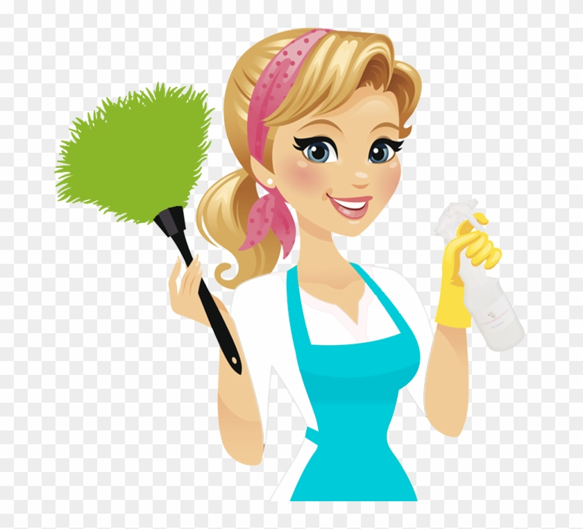 Woman cleaning clipart transparent background clip transparent library Cleaning Lady Png - Maid Service, Transparent Png - 683x682 ... clip transparent library