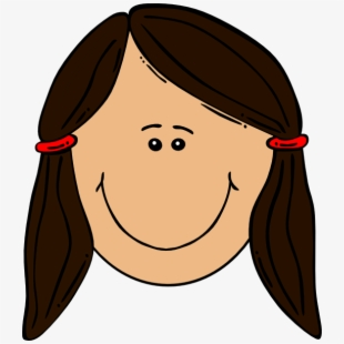 Woman clipart brown hair picture transparent stock Brown Haired Girl At Computer Clipart - Clipart Girl With ... picture transparent stock