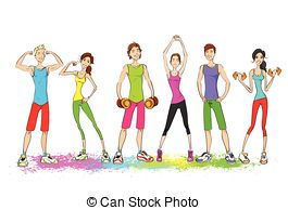 Woman clipart gym clothes clipart free library Workout clothes Vector Clipart Illustrations. 3,078 Workout ... clipart free library