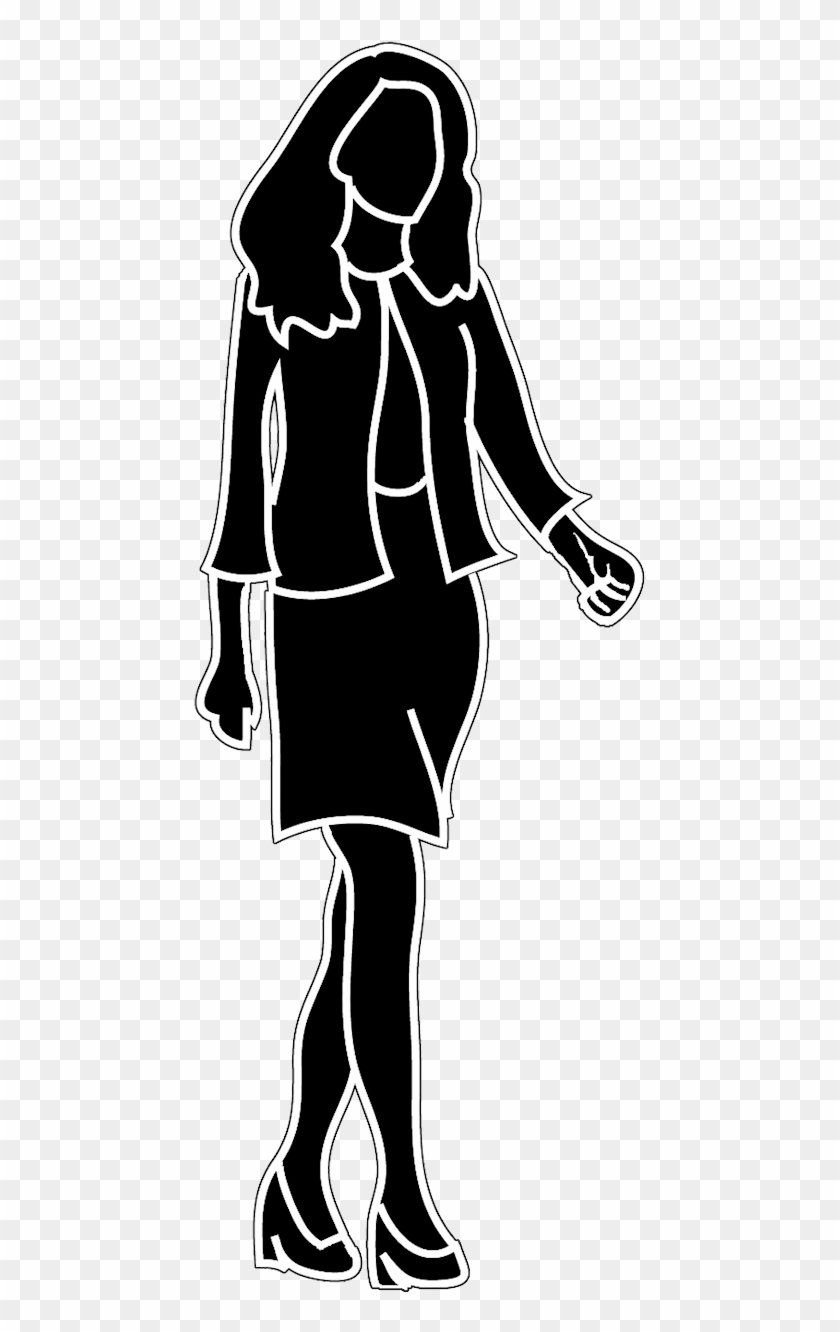 Woman clipart walking picture free download Female Silhouette - Business Woman Walking Clipart, HD Png ... picture free download