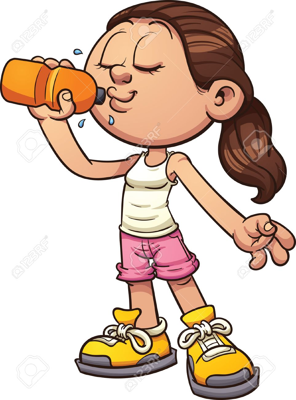Woman drinking soda clipart svg library stock Women Drinking Cliparts - Making-The-Web.com svg library stock