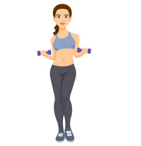 Woman exercising clipart graphic Free Female Workout Cliparts, Download Free Clip Art, Free ... graphic